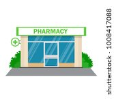 facade pharmacy drugstore... | Shutterstock .eps vector #1008417088