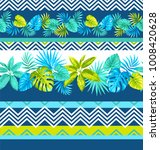 tropical seamless pattern with... | Shutterstock .eps vector #1008420628