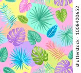 tropical seamless pattern with... | Shutterstock .eps vector #1008420652