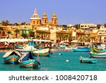 Harbour Of Marsaxlokk Village...
