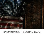 usa flag on a wood surface | Shutterstock . vector #1008421672