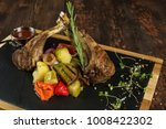 lamb ribs grilled on cutting...   Shutterstock . vector #1008422302
