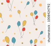 seamless pattern with floating... | Shutterstock .eps vector #1008424792