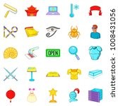 show icons set. cartoon set of... | Shutterstock .eps vector #1008431056