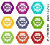 best choise label icon set many ... | Shutterstock .eps vector #1008431488