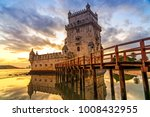 belem tower at sunset in lisbon ...   Shutterstock . vector #1008432955