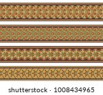 abstract ethnic nature tile... | Shutterstock .eps vector #1008434965