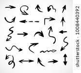 hand drawn arrows  vector set | Shutterstock .eps vector #1008440392