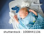 little newborn baby. cute... | Shutterstock . vector #1008441136