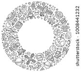 line art vector hand drawn set... | Shutterstock .eps vector #1008441232