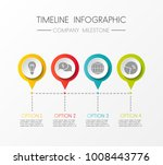 timeline infographic   layout... | Shutterstock .eps vector #1008443776