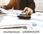 financiers are calculating... | Shutterstock . vector #1008444205