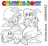 Coloring Book Ocean And Mermai...