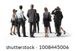 back view of standing business... | Shutterstock . vector #1008445006
