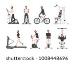 bearded man dressed in sports... | Shutterstock .eps vector #1008448696