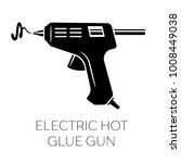 electric hot glue gun silhouette | Shutterstock .eps vector #1008449038