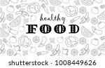 healthy food typography poster. ... | Shutterstock .eps vector #1008449626