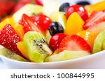 salad with fresh fruits and... | Shutterstock . vector #100844995