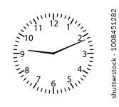 clock face   vector illustration   Shutterstock .eps vector #1008451282