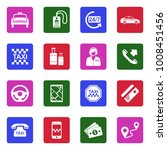 taxi icons. white flat design... | Shutterstock .eps vector #1008451456