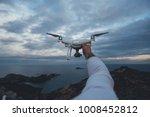 pov shot of drone pilot or...   Shutterstock . vector #1008452812