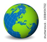 earth globe with green world... | Shutterstock .eps vector #1008454702