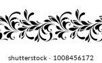outline floral seamless pattern.... | Shutterstock .eps vector #1008456172