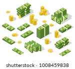 set of isometric money isolated ... | Shutterstock .eps vector #1008459838