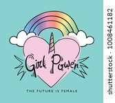 girl power concept   vector... | Shutterstock .eps vector #1008461182