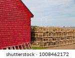 Rows Of Staked Lobster Traps ...