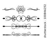 set of decorative dividers   Shutterstock .eps vector #100846252