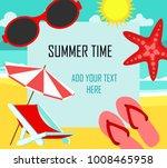 summer time in beach sea shore... | Shutterstock .eps vector #1008465958