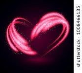 pink shiny heart. shimmering... | Shutterstock .eps vector #1008466135