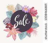 tropical hawaiian flyer with... | Shutterstock .eps vector #1008466885