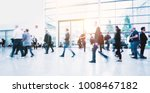 crowd of blurred people | Shutterstock . vector #1008467182