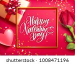 romantic valentine s day card...   Shutterstock .eps vector #1008471196