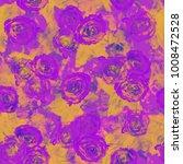 watercolor roses. seamless... | Shutterstock . vector #1008472528