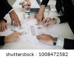 hand of businessman point to... | Shutterstock . vector #1008472582