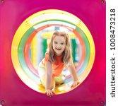 kids climbing and sliding on... | Shutterstock . vector #1008473218