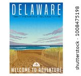 Delaware Travel Poster Or...