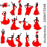 large set of silhouettes of... | Shutterstock .eps vector #1008475348