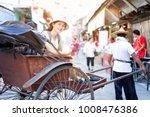 young asian female traveler...   Shutterstock . vector #1008476386