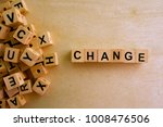 change word cube on wood... | Shutterstock . vector #1008476506