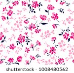 pattern of flowers with leaves... | Shutterstock .eps vector #1008480562