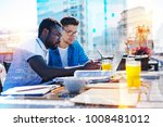 business. handsome concentrated ...   Shutterstock . vector #1008481012