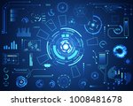 abstract technology ui... | Shutterstock .eps vector #1008481678