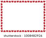heart border vector background