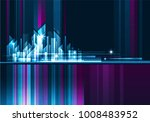 abstract night background with... | Shutterstock . vector #1008483952