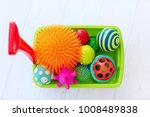 colorful toy trolley full of... | Shutterstock . vector #1008489838