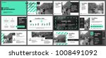 green presentation templates... | Shutterstock .eps vector #1008491092